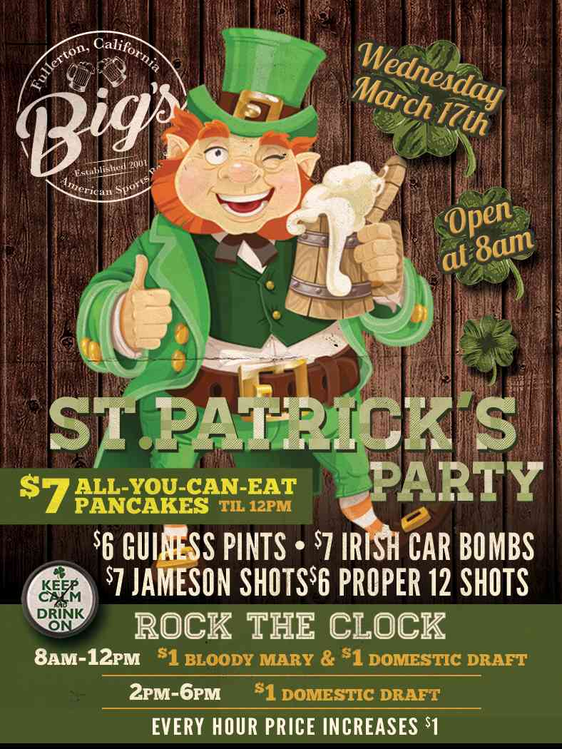 """ST. PATRCK""""s DAY SPECIALS"""