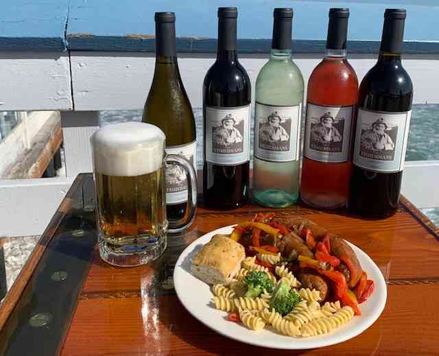 Fisherman's Chardonnay, Cabernet, Merlot, White Zinfandel, Pinot Grigio or Champagne