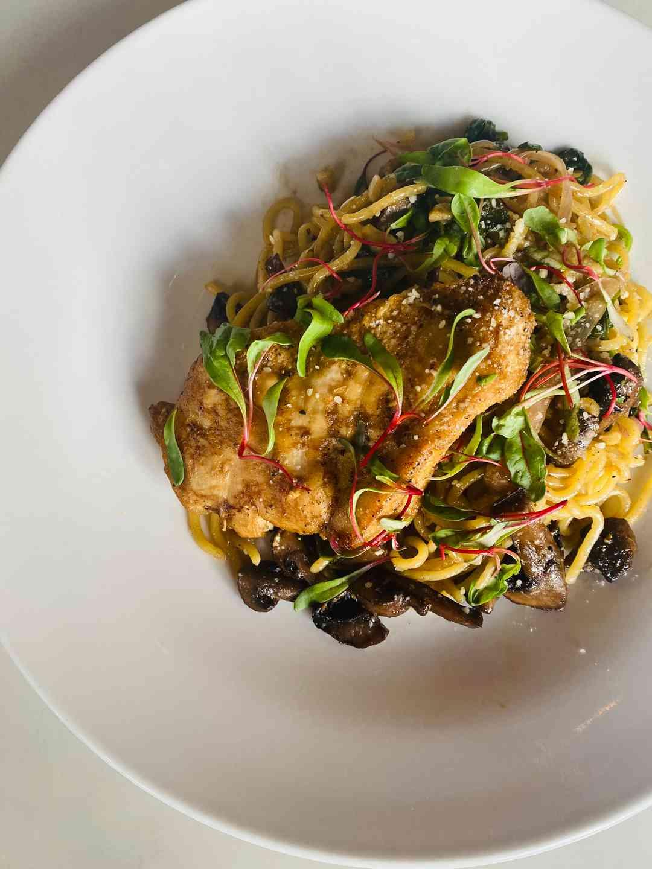 Chicken Mushroom Spaghetti