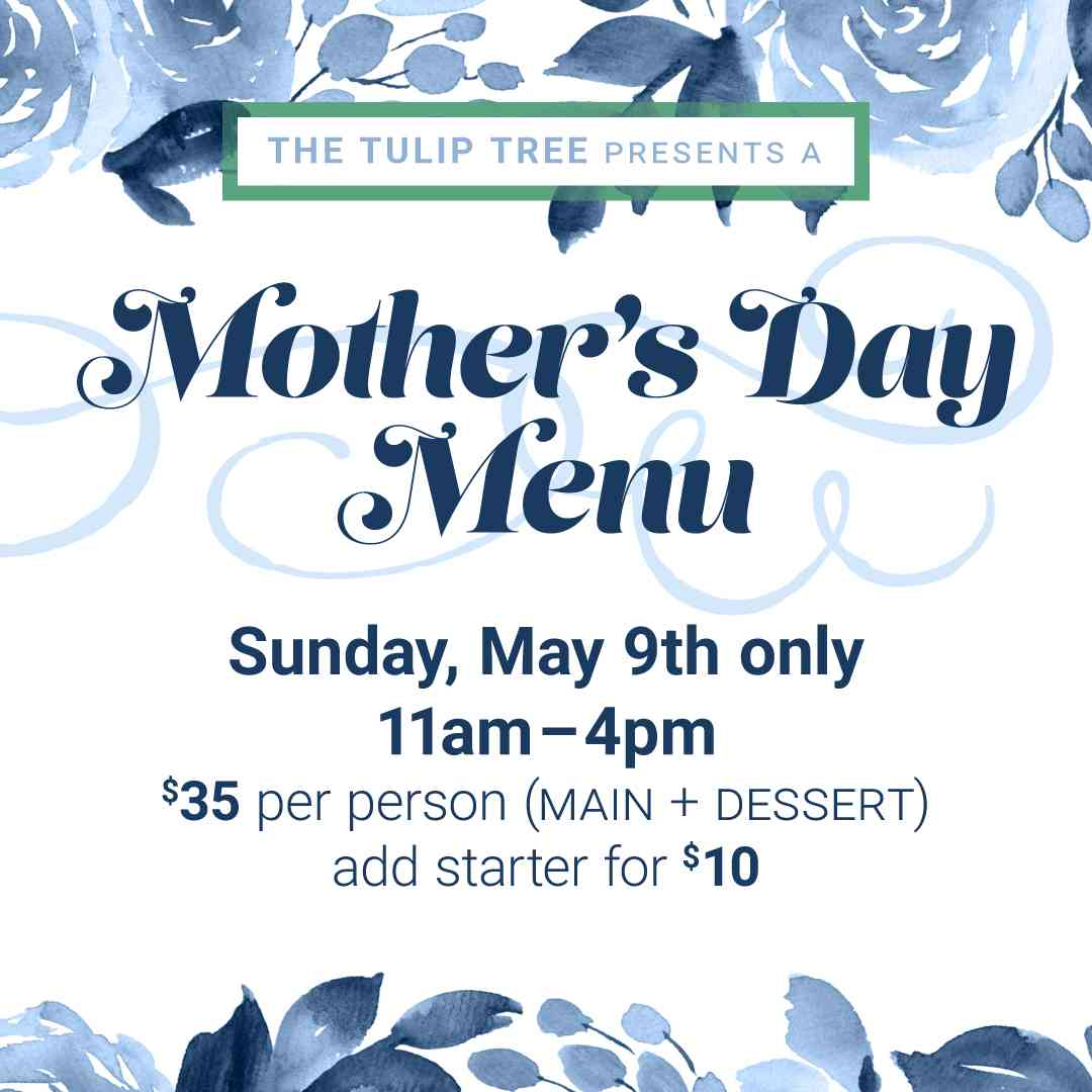Mother Day Menu May 9