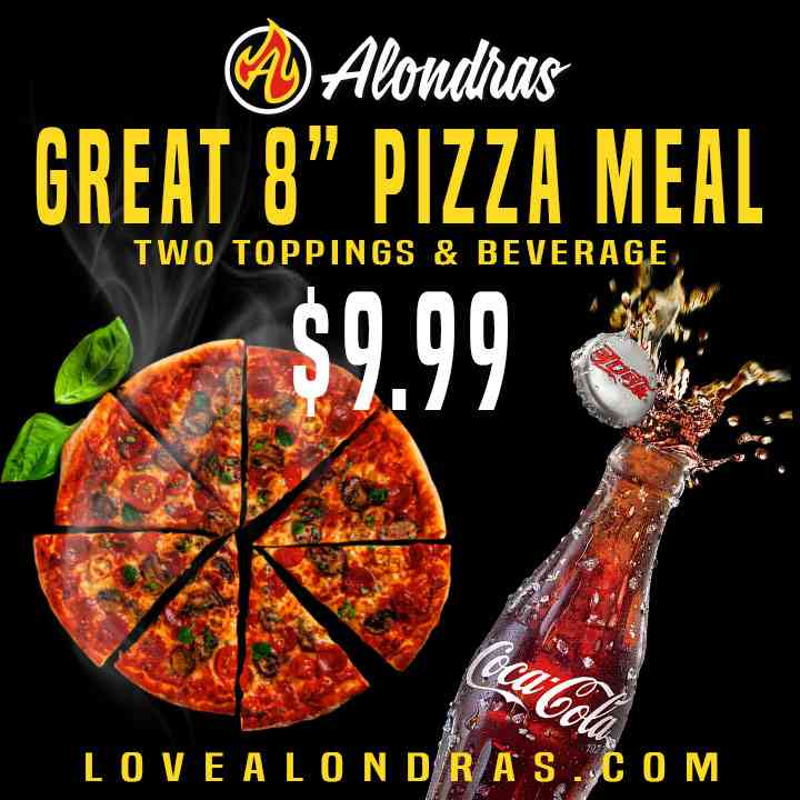 "Great 8"" Pizza Meal"