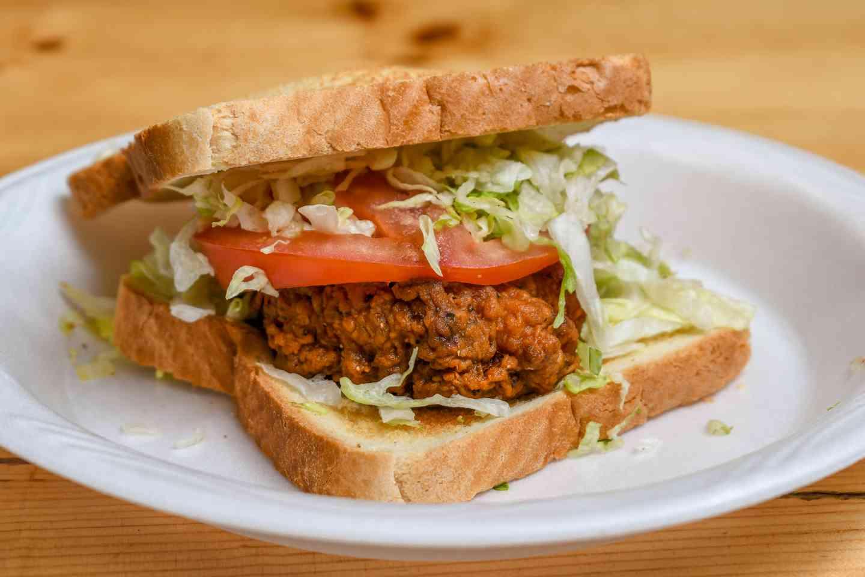 Breakfast Spicy Chicken Sandwich
