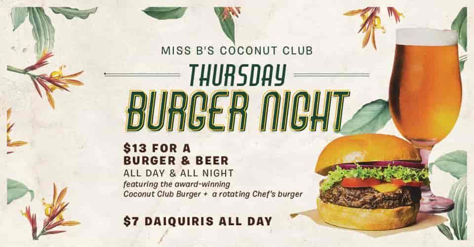 Thursday Burger Night