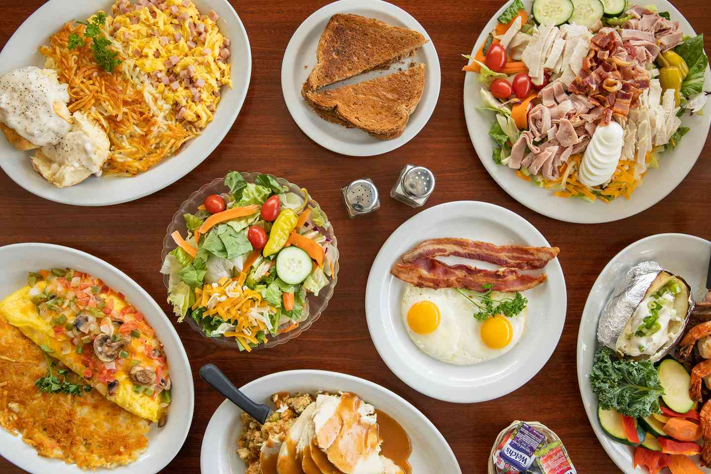 An assortment of Corky's Kitchen and Bakery food