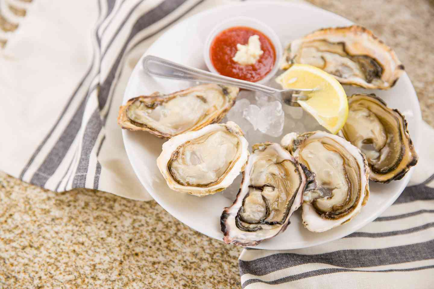 Chilled Oysters Half Shell