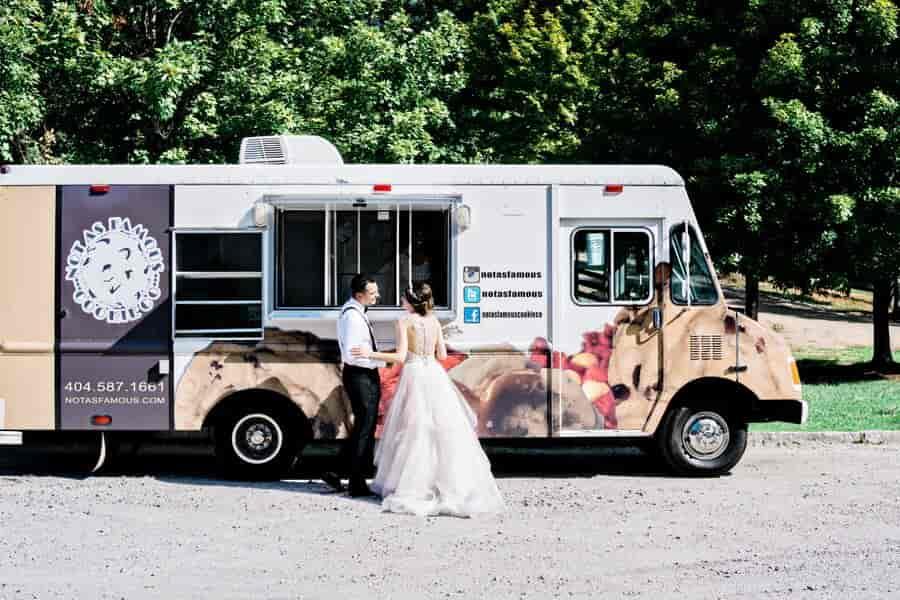 wedding cookie food truck