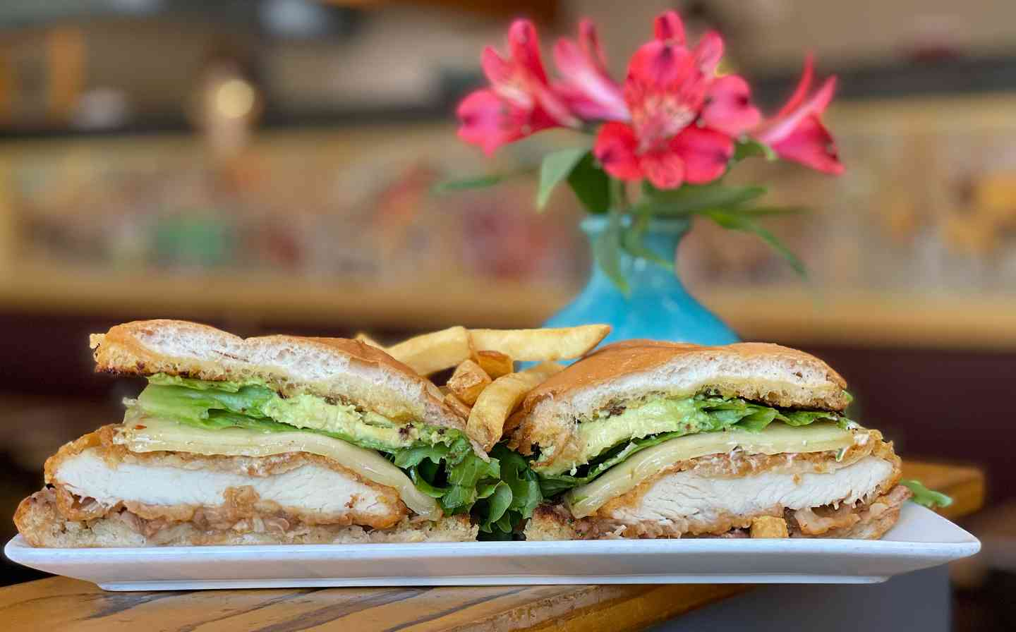 spicy chicken torta