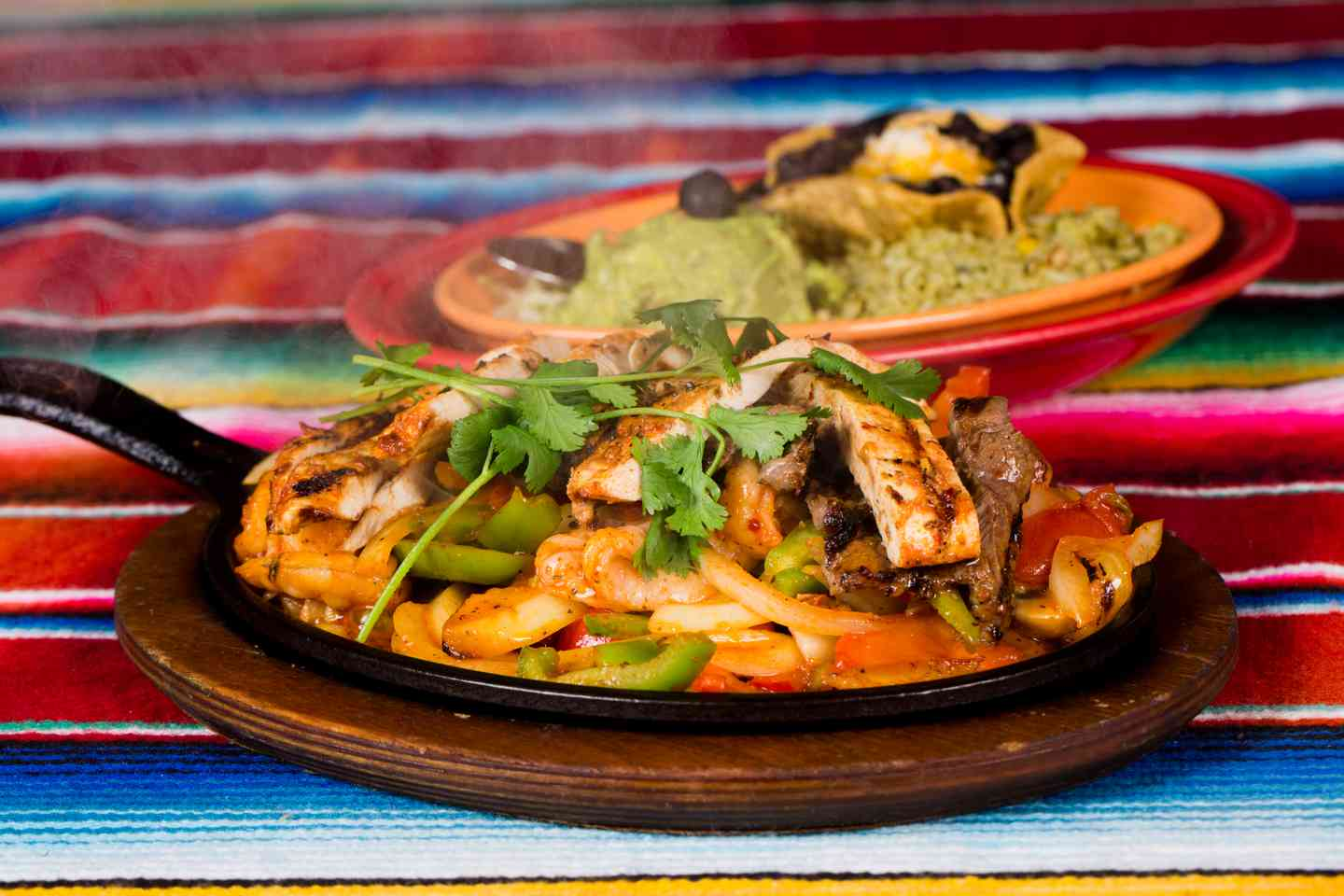 Fajitas Supremas: Chicken, Beef & Shrimp