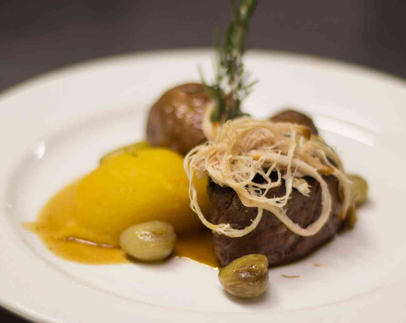 meat dish with garnish