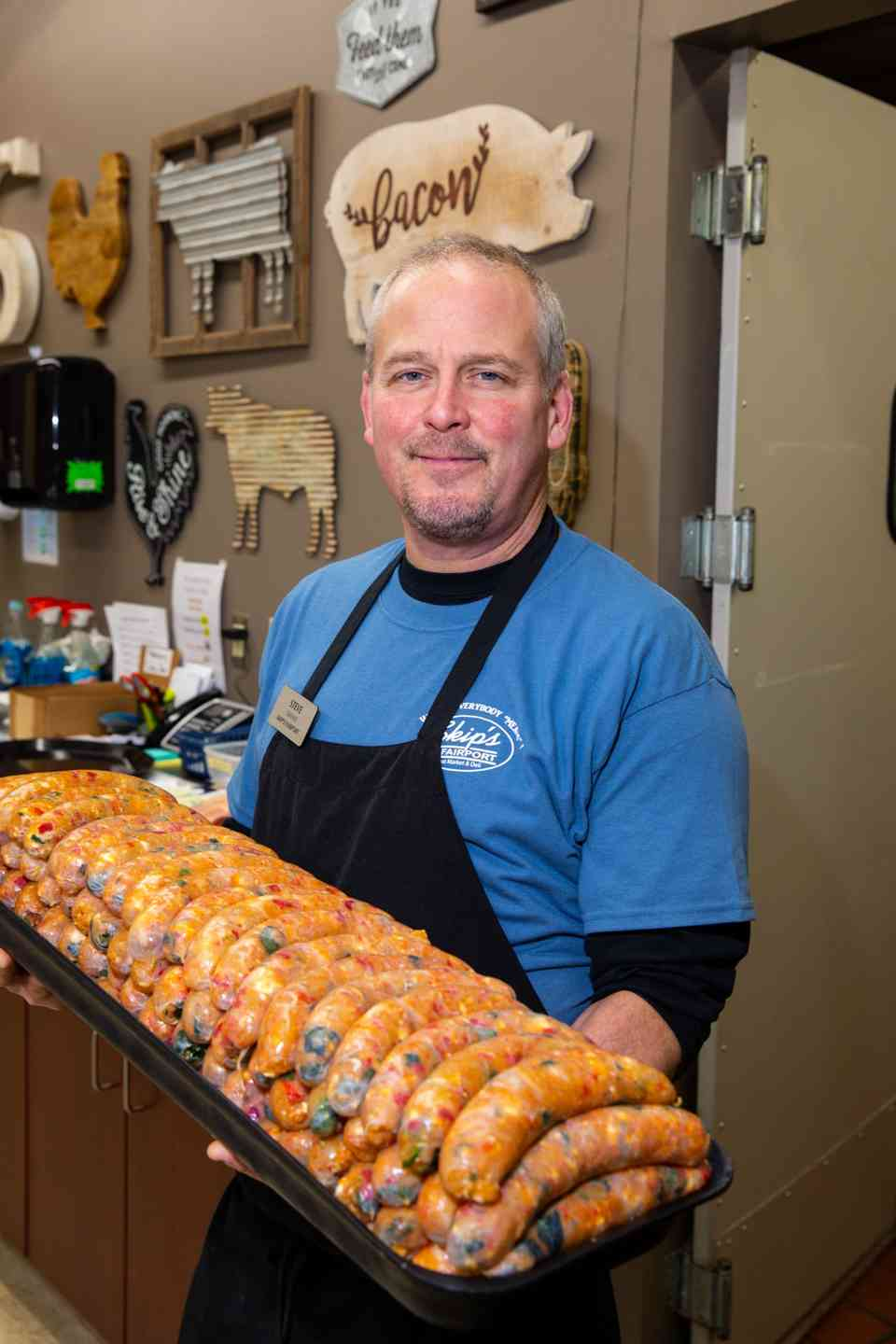 steve with sausages