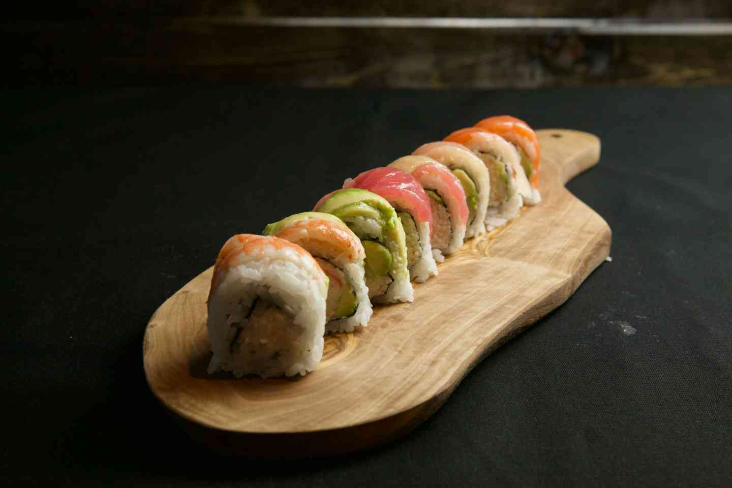 Rainbow on Cali Roll