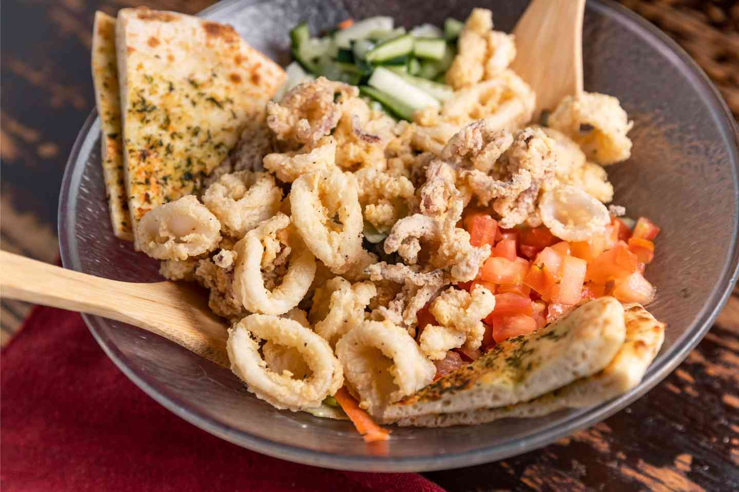 The Mythical Giant Calamari Salad