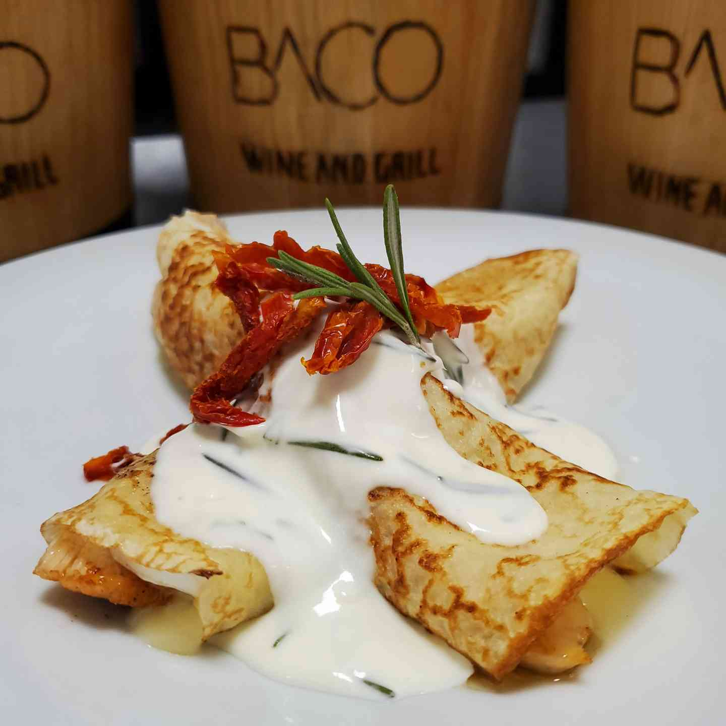 Savory Chicken Crepes