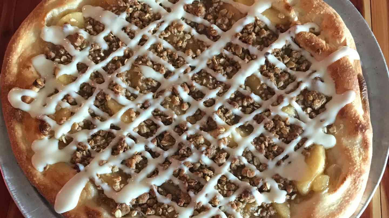 Apple Crisp Dessert Pizza
