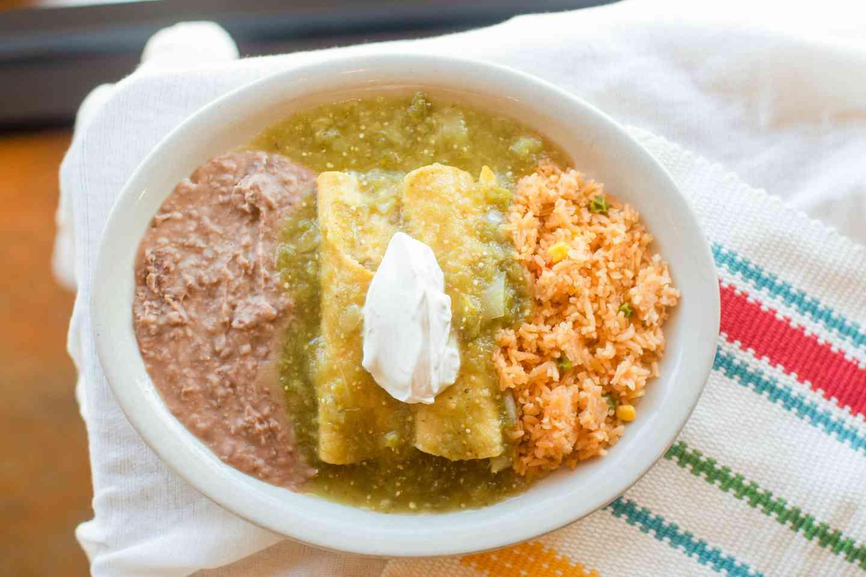#11 Green Enchilada Plate