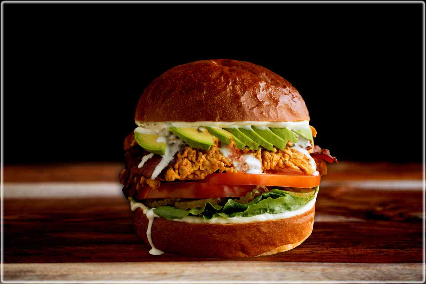 Bacon Avocado Chicken Burger