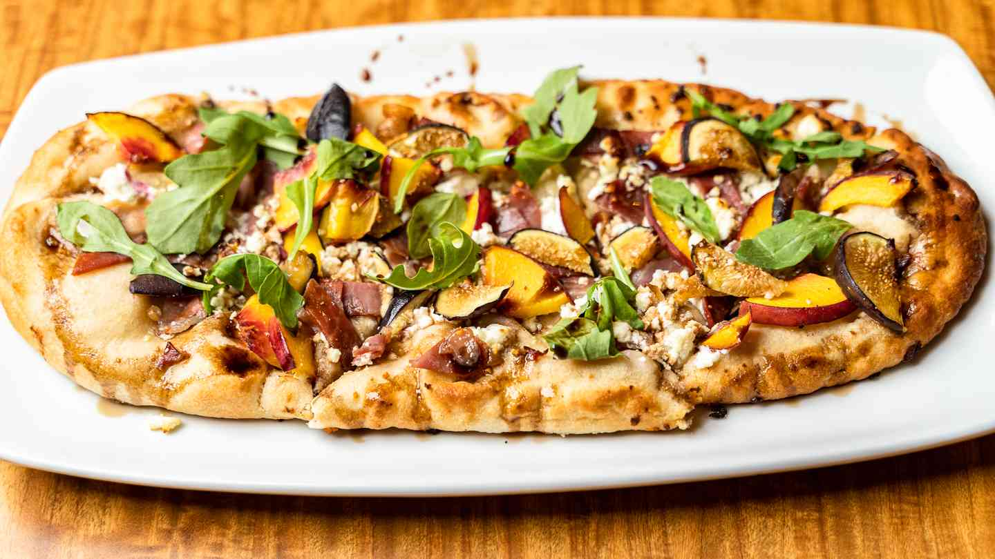 Peach and Proscuitto Flatbread