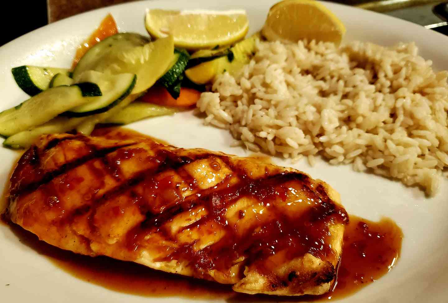 Fire Grilled Atlantic Salmon*