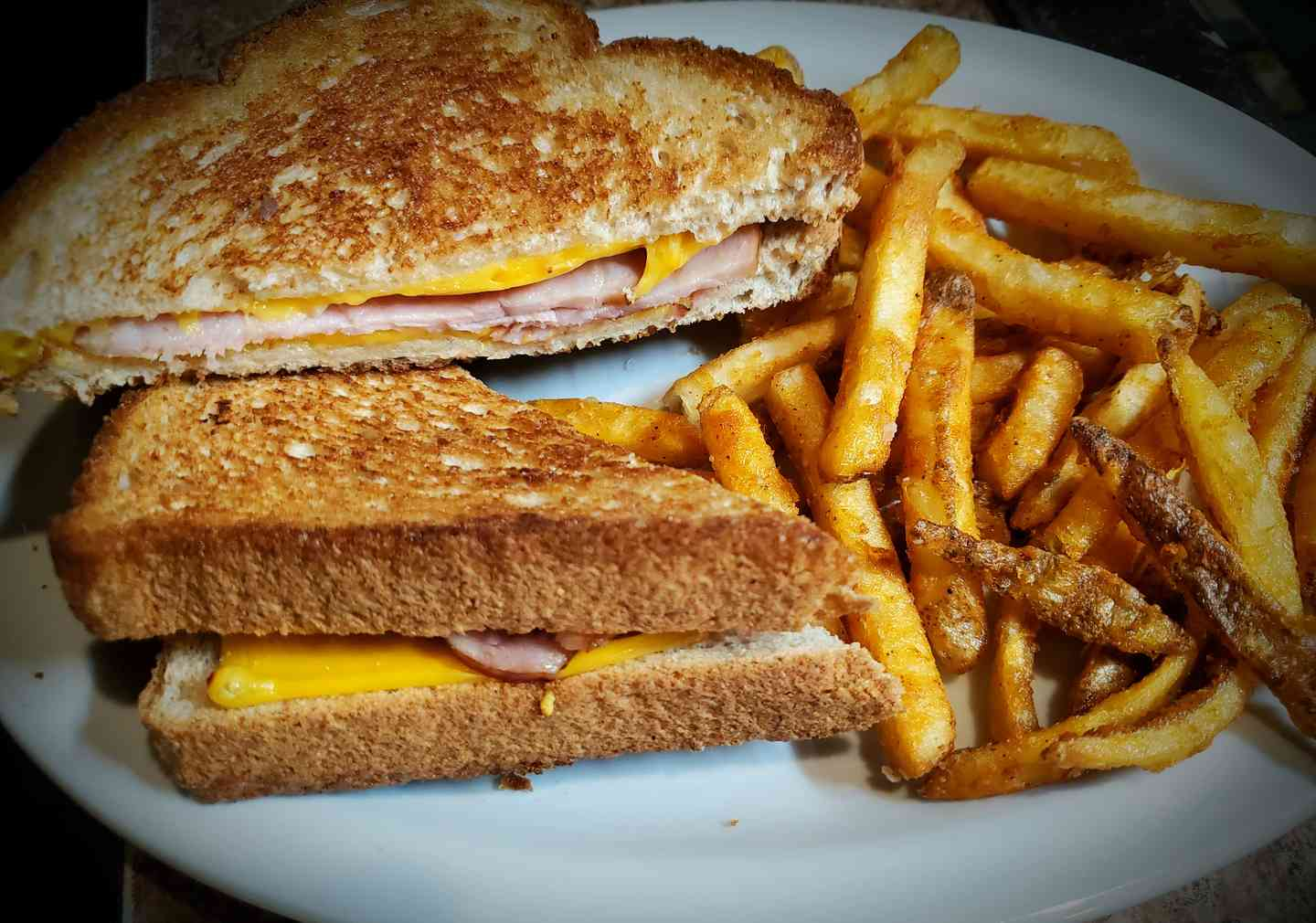 Grilled Ham & Cheese with Fries