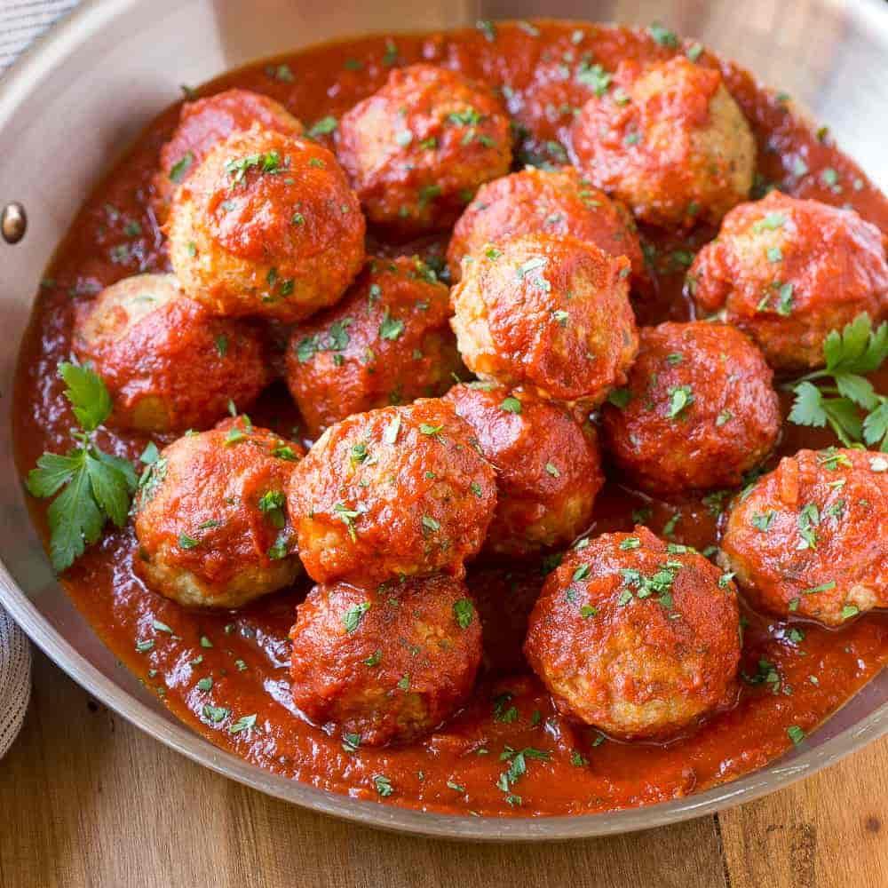 20 bite size Italian Style Meatballs