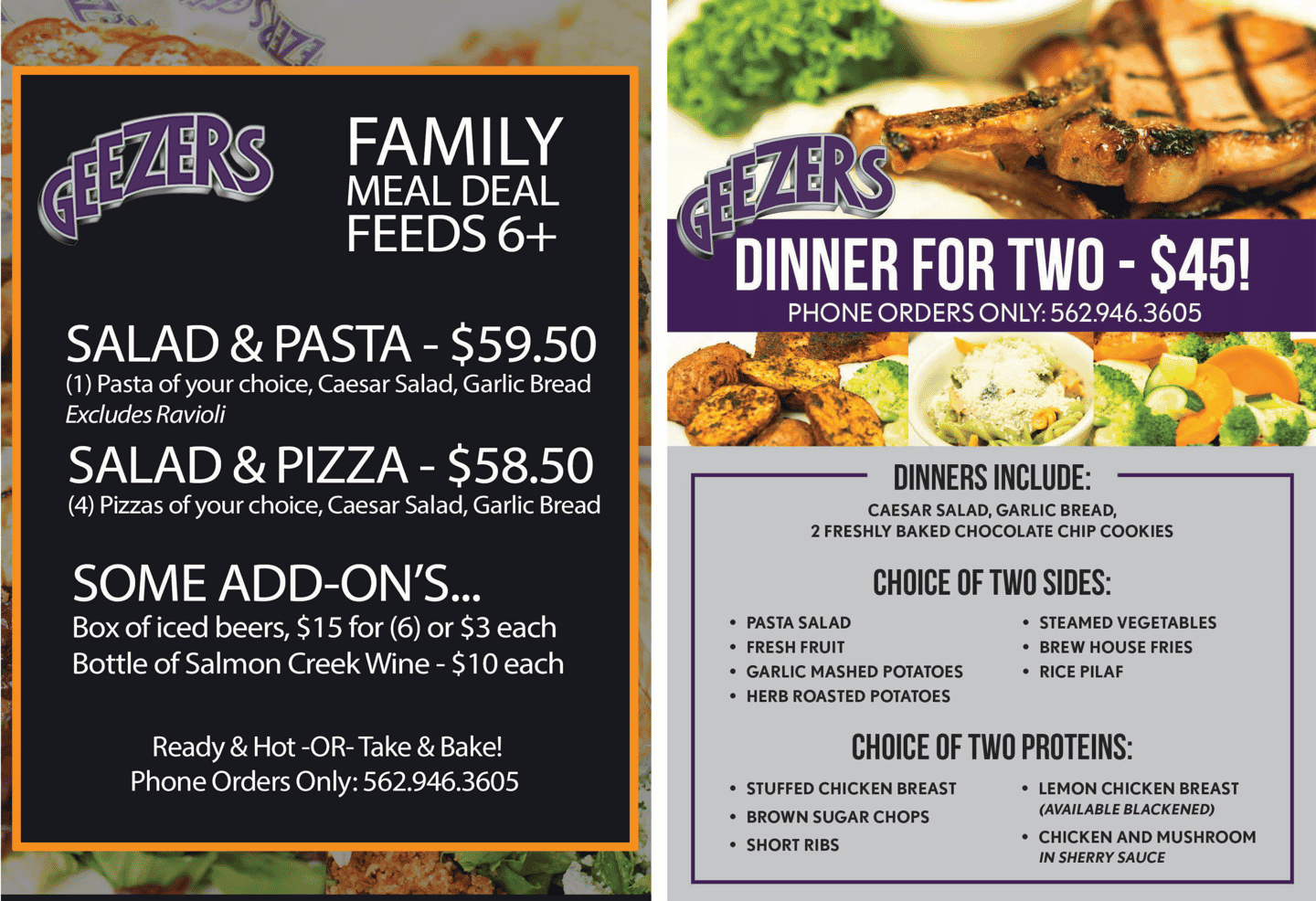 Family Meal Deals!