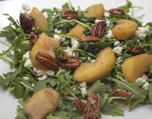 Roasted Apple and Goat Cheese Salad