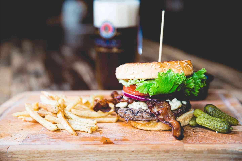 Bacon Bleu Cheese Burger*