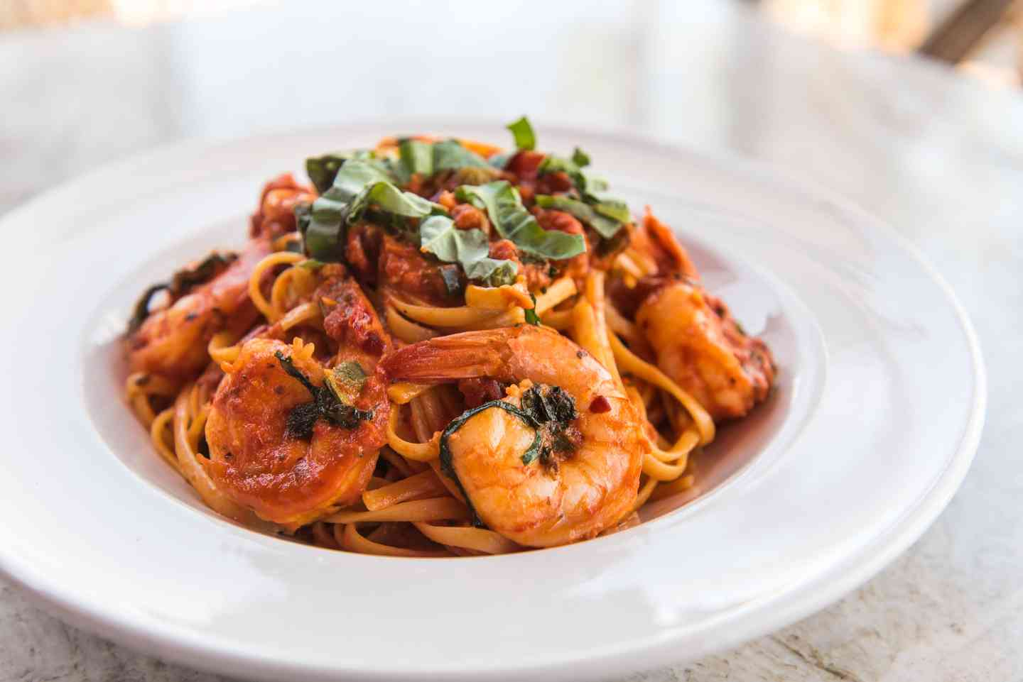 Linguini Shrimp Diavola