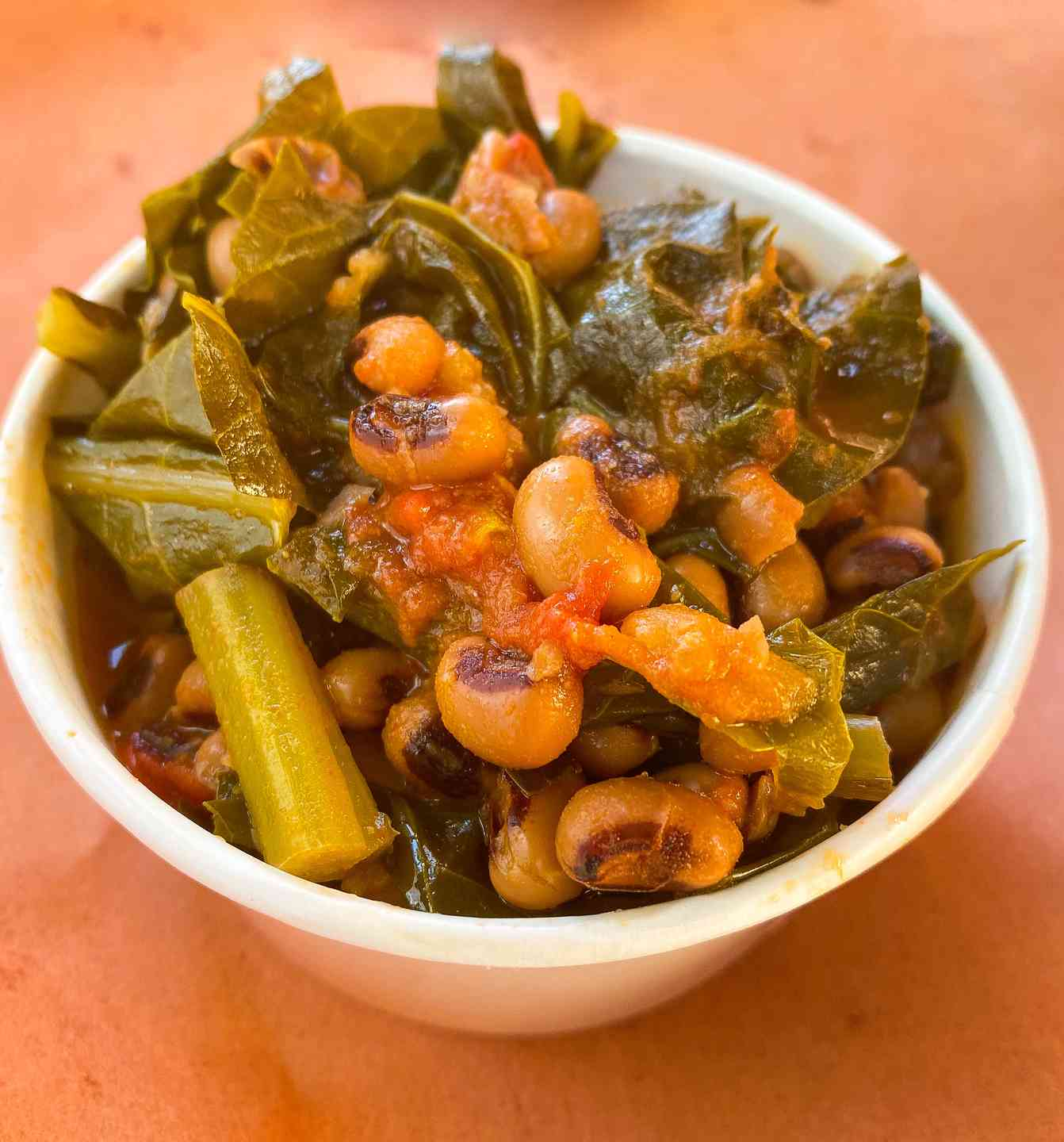 Blackeyed Peas, Collards, And Tomatoes