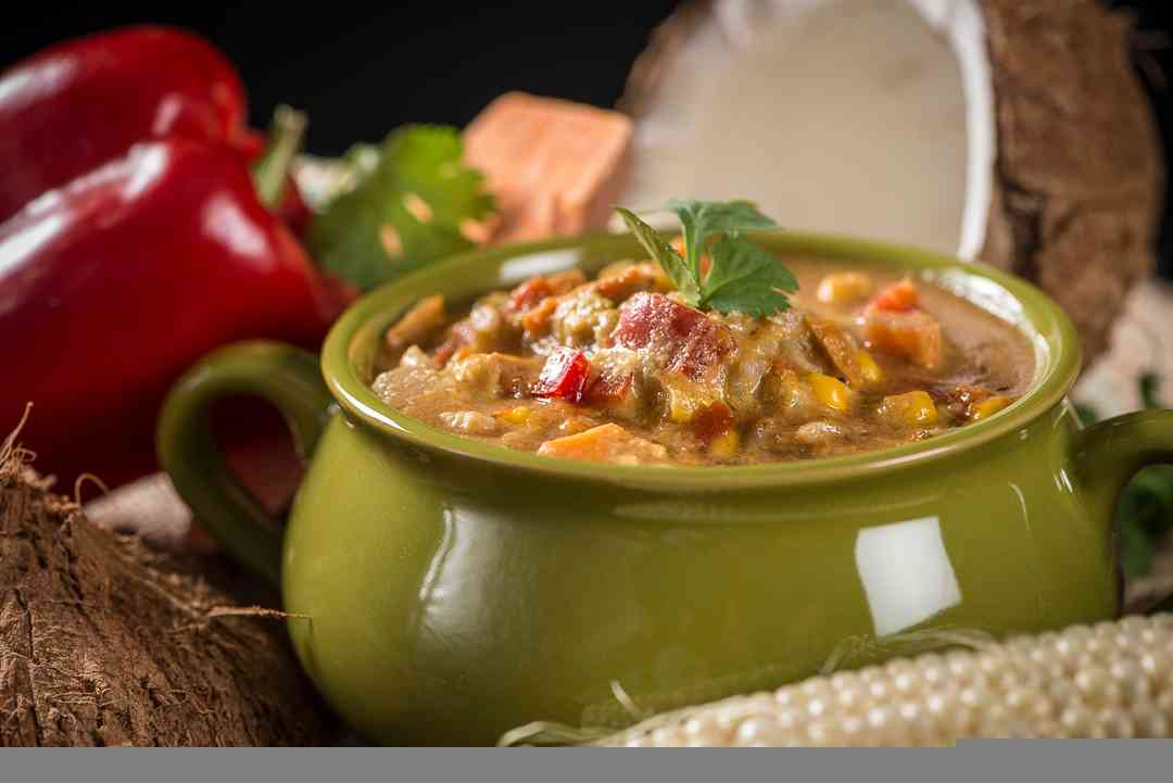 Coconut Corn & Sweet Potato Chowder