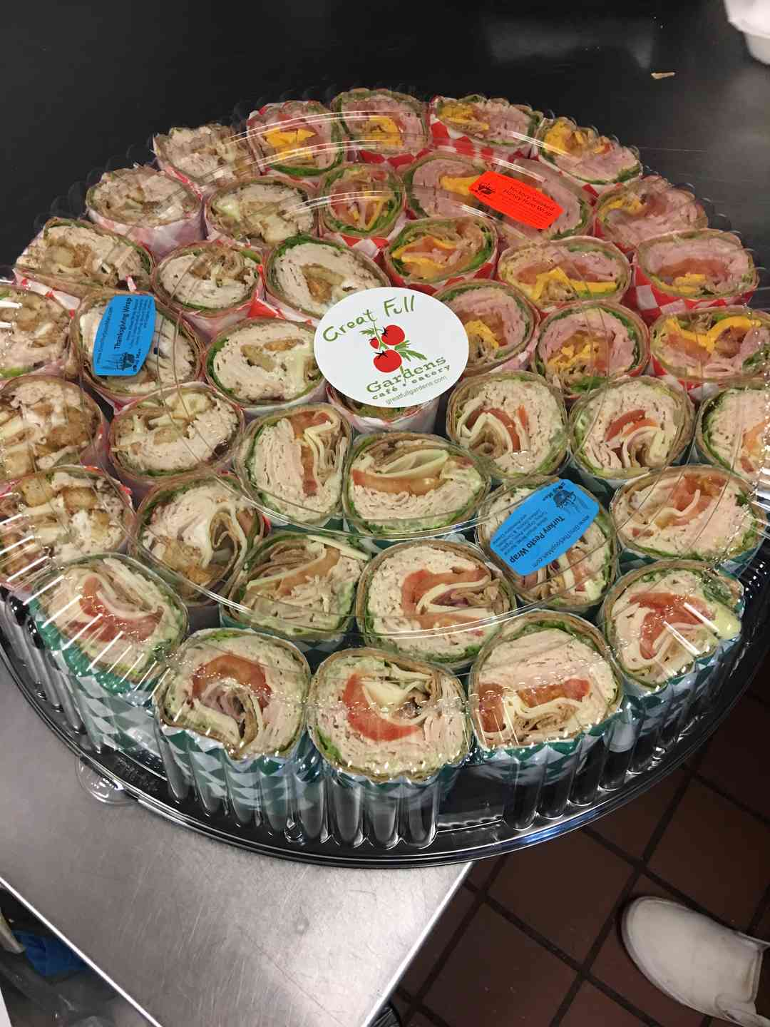 Luncheon Wraps, Cut & Faced (Choose From or Assorted)