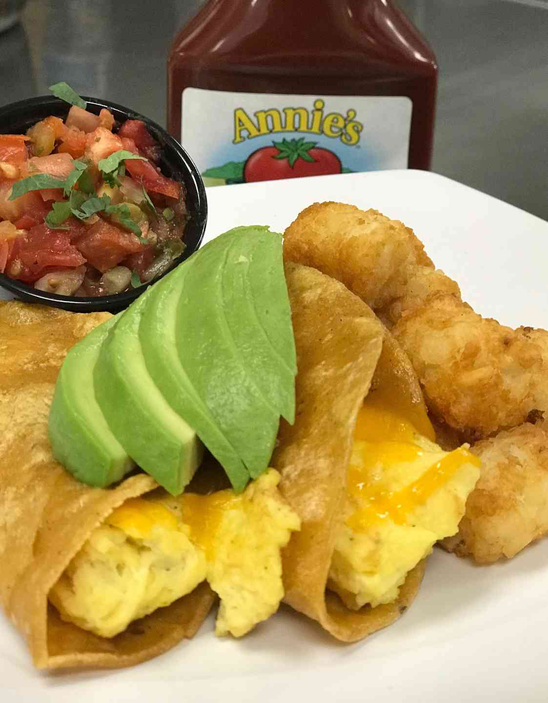 *Egg Tacos & Tots