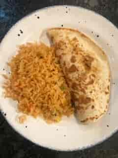 Quesadilla + Rice**