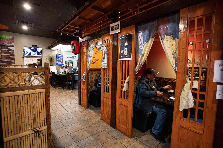 Interior of Fuji Grill