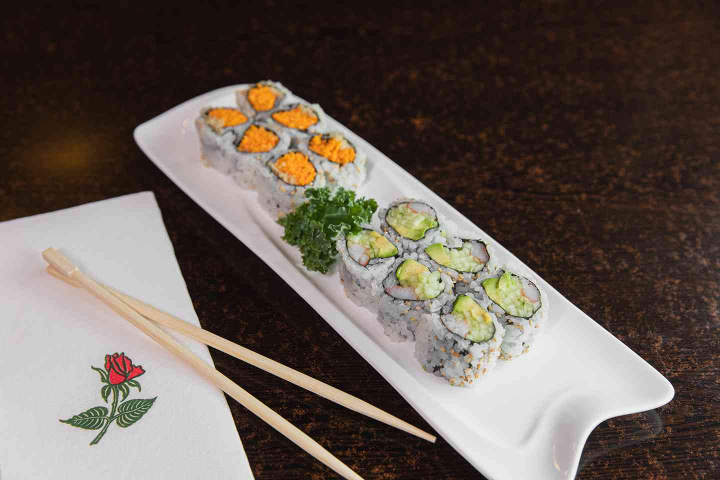 California and spicy crab rolls
