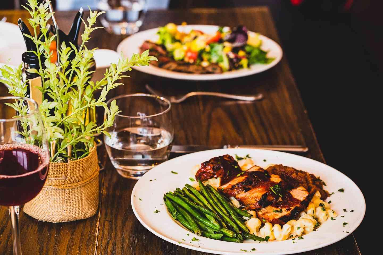 plates on tha table