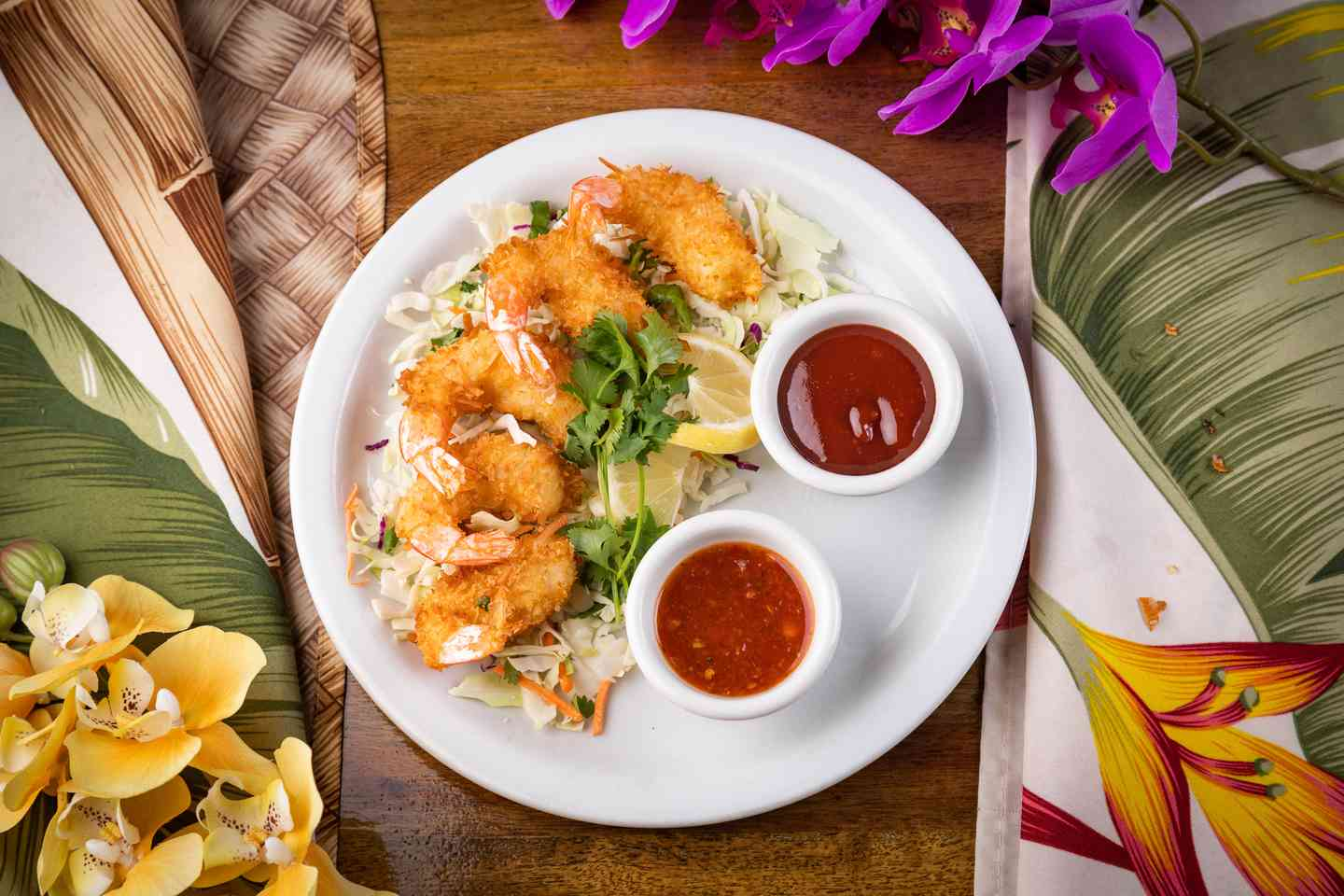 Coconut Battered Prawns