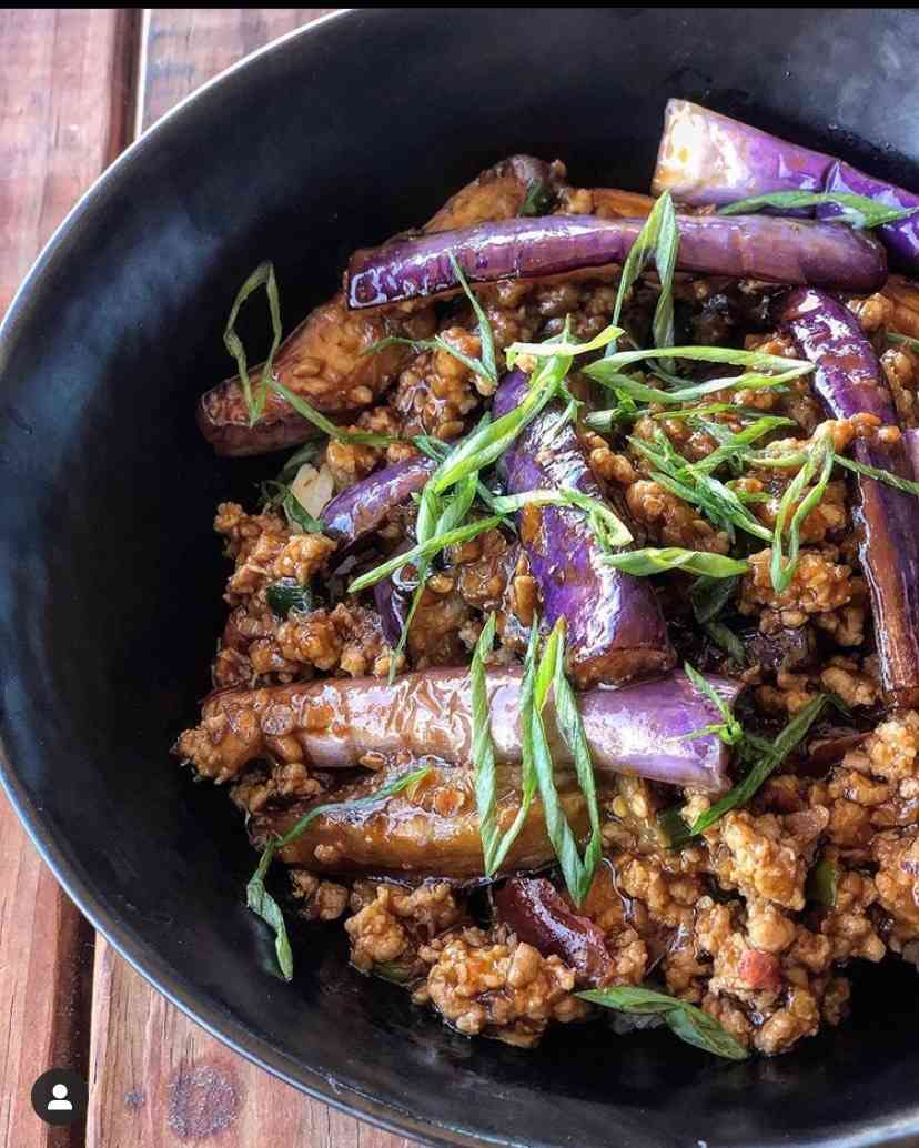 Chinese Spicy Eggplant and Pork