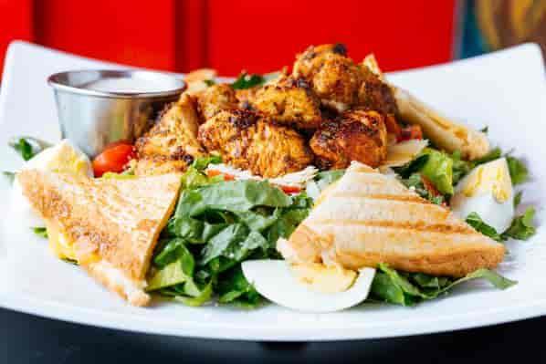 Fusion Caesar Salad with Chicken