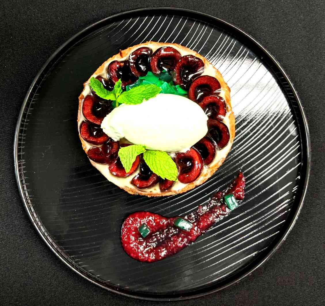 Mint Cherry Tart