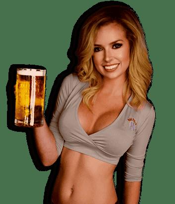 girl holding beer