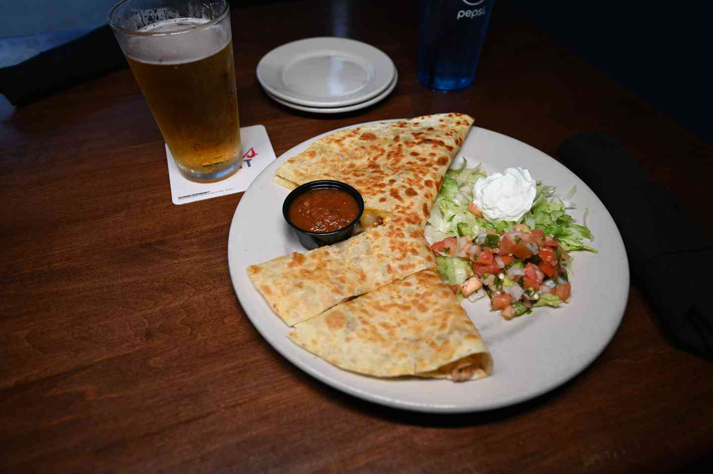 The Wild Pitch Chicken Quesadilla