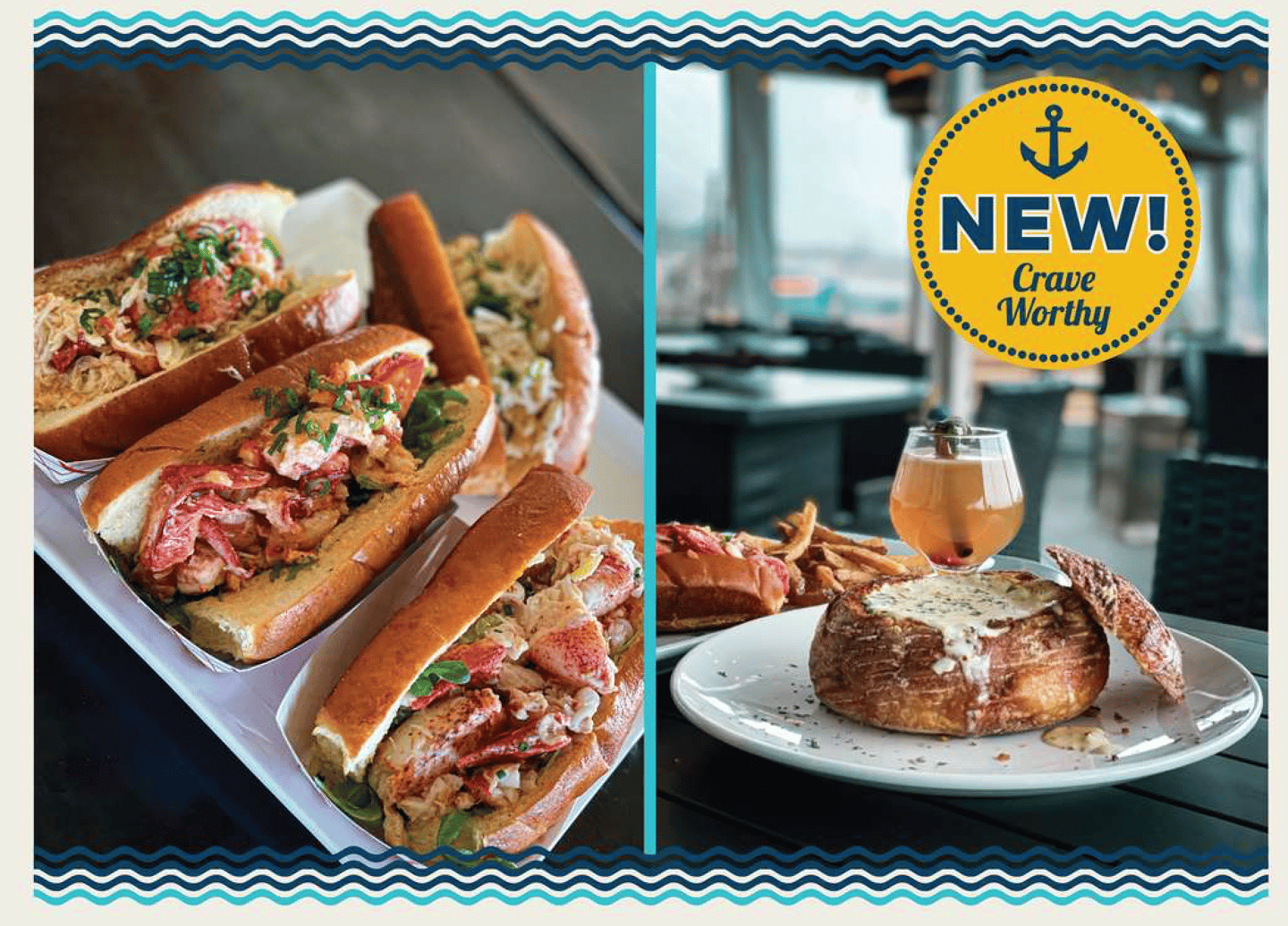 Introducing... Claw Clapping Seafood, Rolls + Belly warming chowder bread bowls!