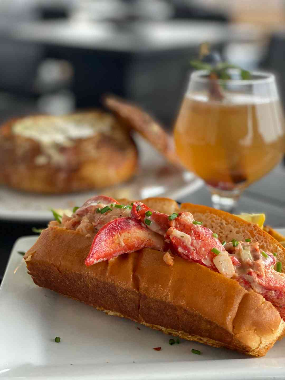 Lobster Roll W/ Bread Bowl & Hot Toddy