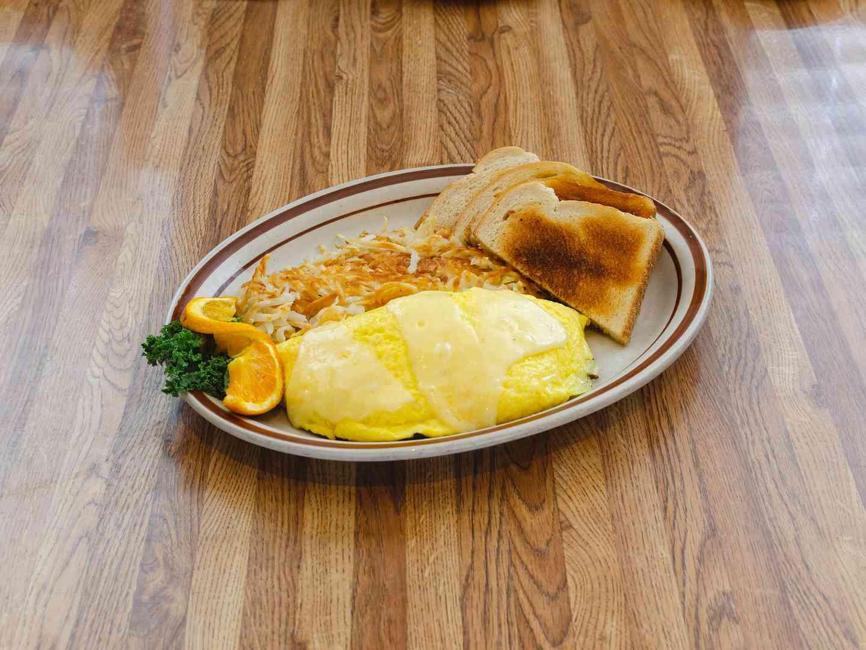 Mushroom and Swiss Omelette