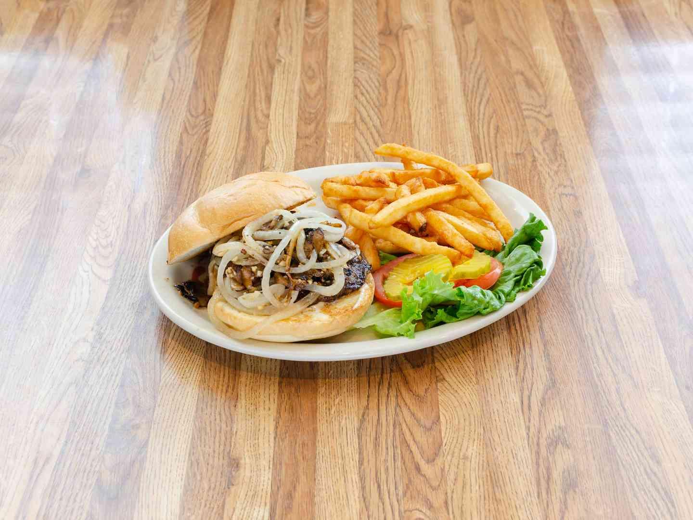 garlic onion mushroom burger