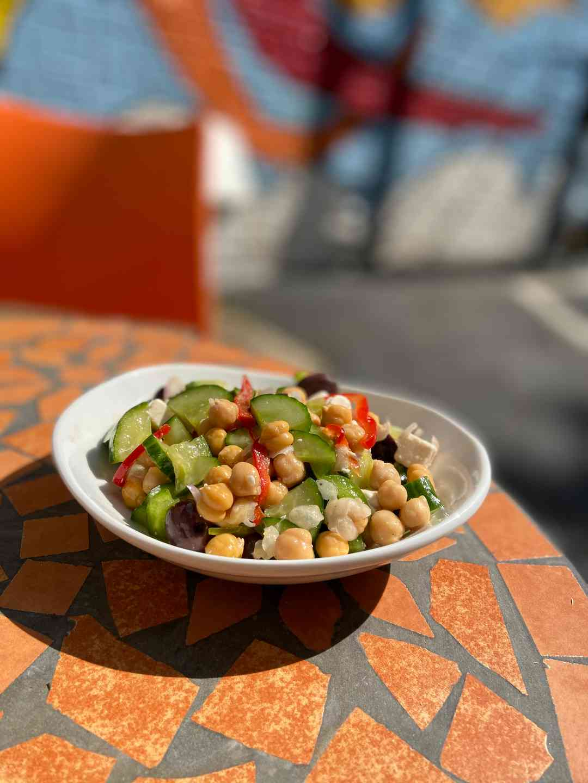Garbanzo Cucumber Salad