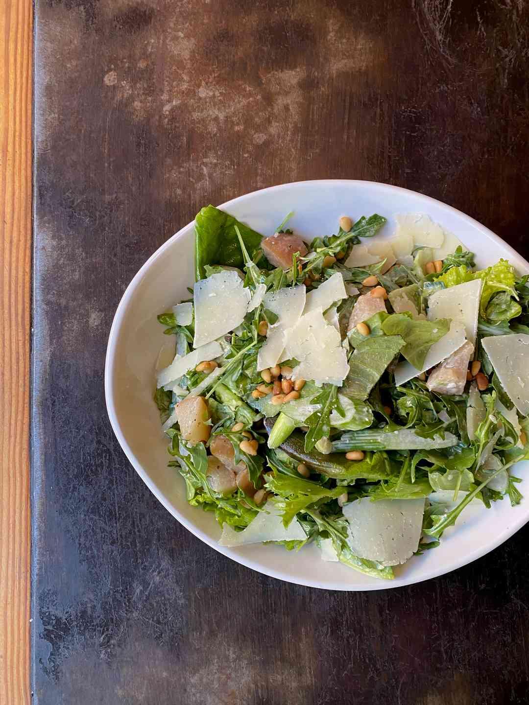 Winter Greens & Pear Salad