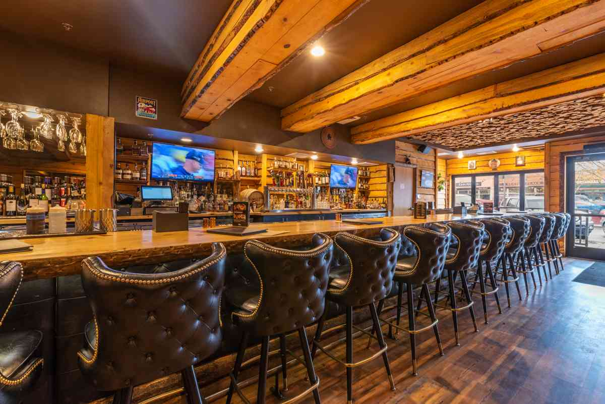 Interior of the bar at The Still Whiskey Steaks