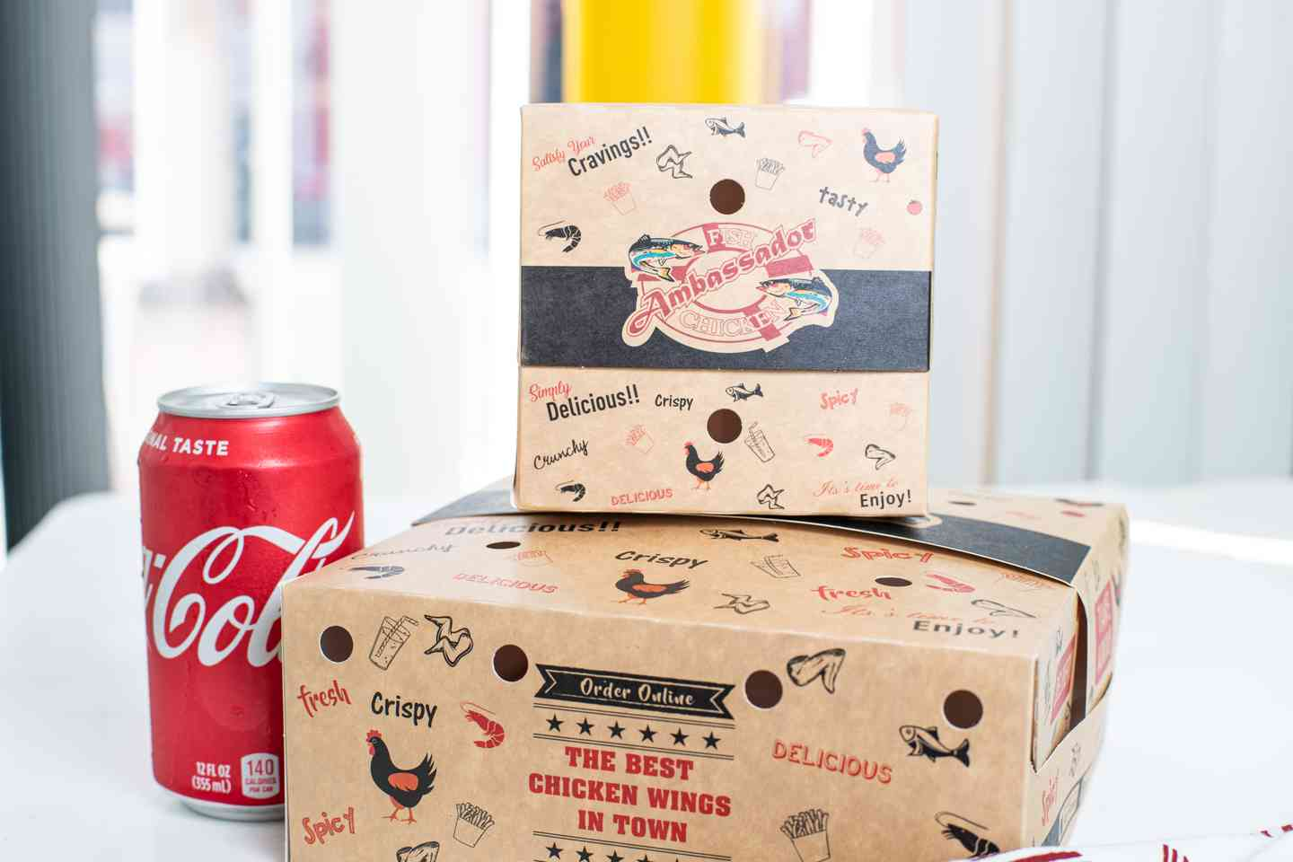 Packaged meals with a drink